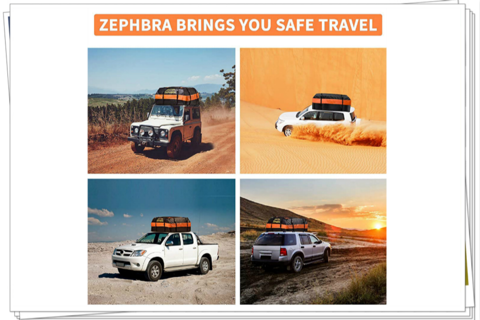 ZEPHBRA Car Roof Bag Cargo Carrier